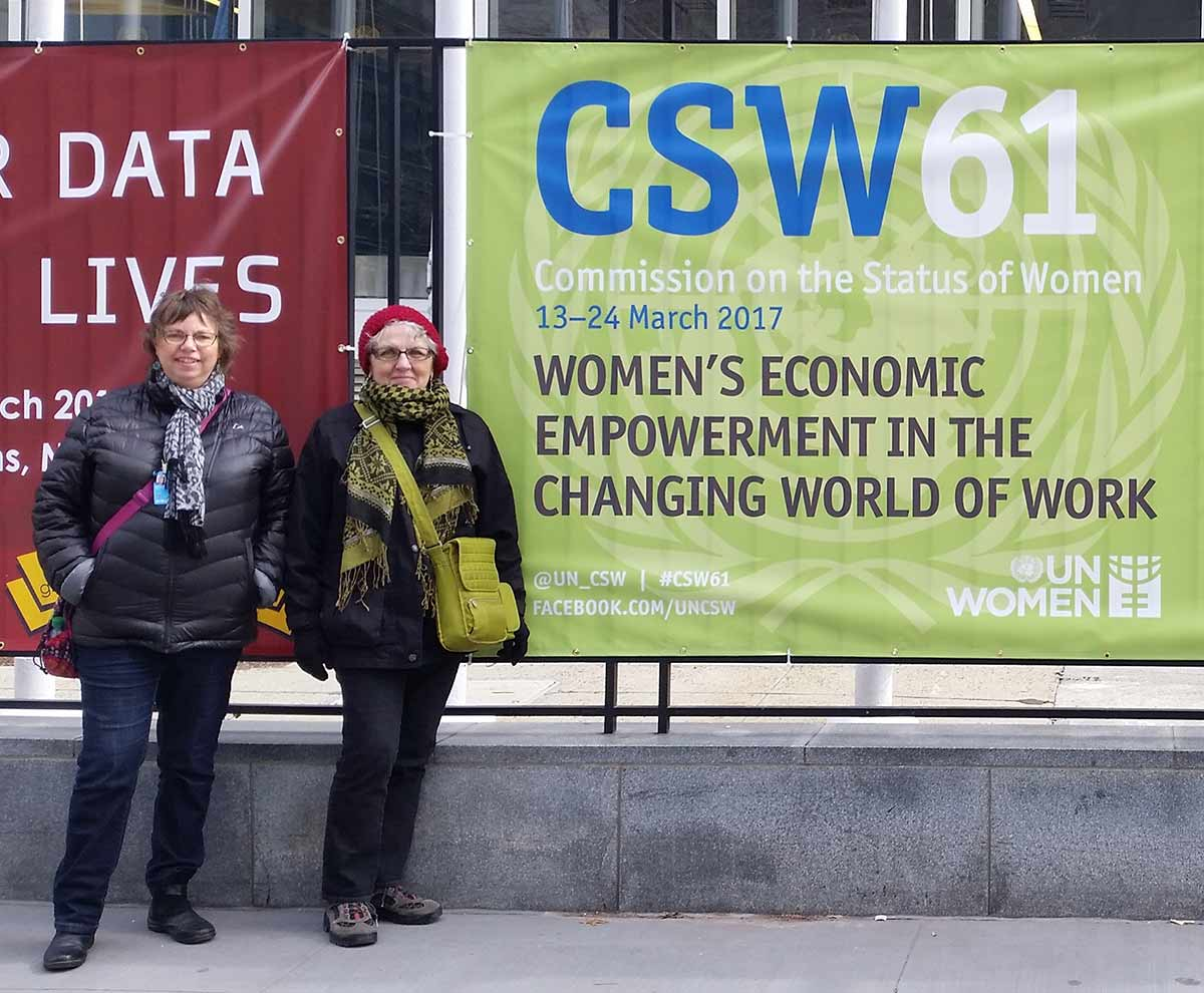 Linda and Jeanne at UN CSW 2017